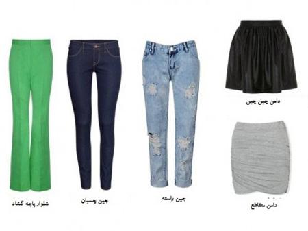 لباس های مناسب اندام های مستطیل, اندام های مستطیل چی بپوشند
