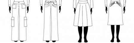 قانون های کلی برای اندام های مستطیل,لباس های مناسب خانم های مستطیل