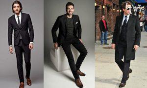 راهنمای پوشیدن کفش قهوهای یا لباس مشکی برای آقایان