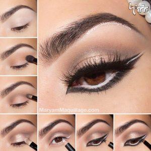 آموزش آرایش چشم زمستانی، مرحله به مرحله