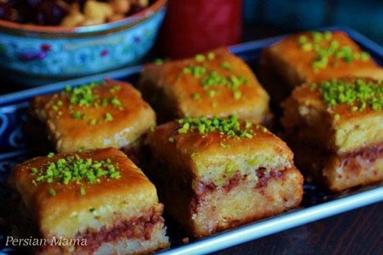 شب یلدا را با کیک باقلوا جشن بگیریم
