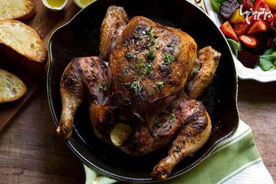 خوراک لونگی مرغ